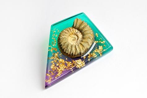 cephalopod fossil brooch-thumb3